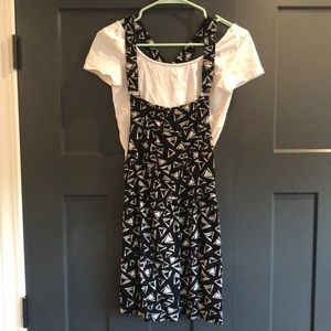 AMERICAN EAGLE | Mini Geometric Overall Dress